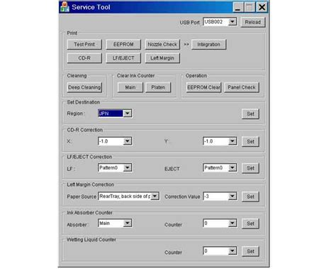 service tool new reset v50 download v1 05 canon service tool for ip3600 ip4600 mp190 mp240