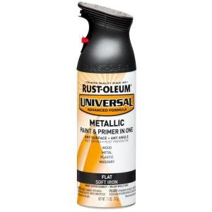 home depot zinc paint rust oleum universal 11 oz all surface flat metallic soft