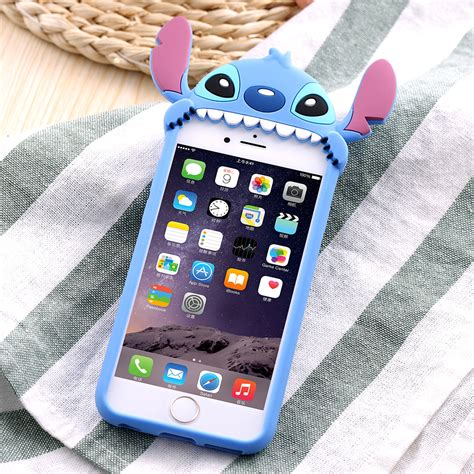 Softcase 3d Stitch Iphone 6 3d phone cases for apple iphone 6 6s 3d stitch soft silicon cover for iphone 6