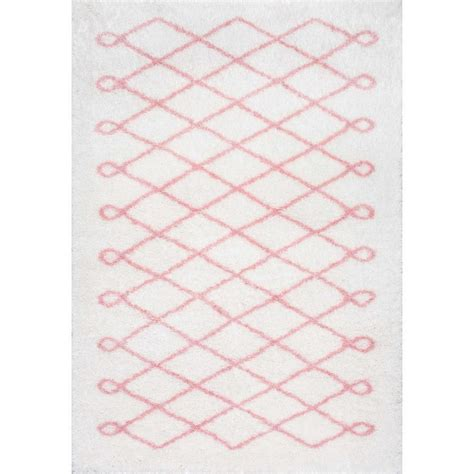 Baby Pink Area Rug Nuloom Stasia Shag Baby Pink 8 Ft X 10 Ft Area Rug Ozas02c 8010 The Home Depot
