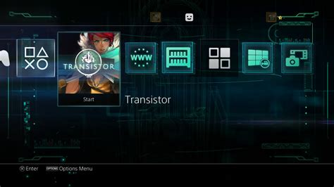 ps4 themes psx extreme supergiant games now available transistor theme for