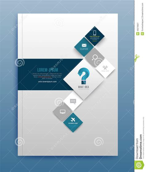 Vector Brochure Design Template Stock Vector Image 49276827 Can Design Template