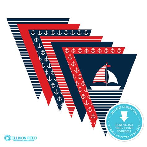 printable nautical images best nautical 1st birthday party supplies catch my party