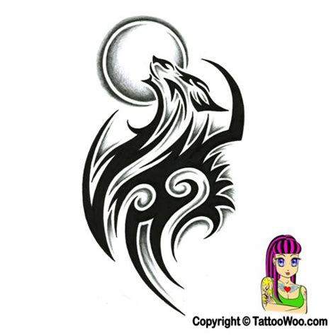shaded tribal tattoo designs tribal wolf design with shading by jsharts on