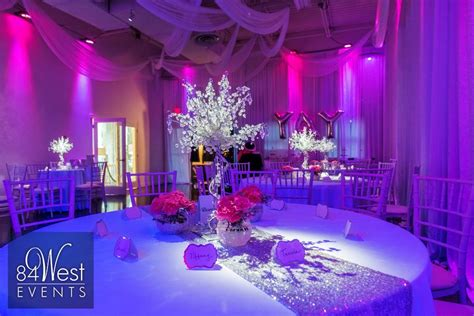 Sweet Centerpieces Florida Weddings Pink And Silver Sweet 16 Fort Lauderdale Florida By 84