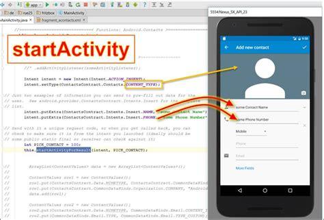 android startactivity und intent wie makros f 252 r apps programmierer