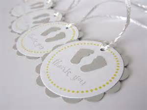 baby shower favor tags thank you tags grey and by wildbeanlore