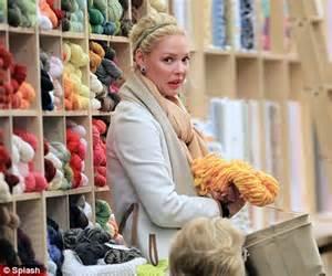 knit shop katherine heigl stocks up on yarn at a knitting shop
