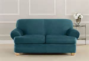 loveseat slipcovers with two cushions sure fit ultimate heavyweight stretch suede individual 2