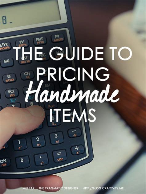 Pricing Handmade Items - pricing handmade items guide handmade items retail and