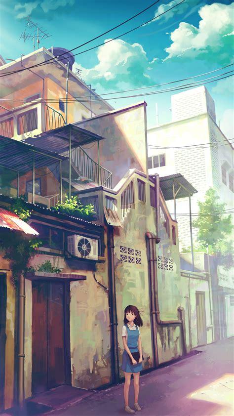 schoolgirl   city street  htc  wallpapers