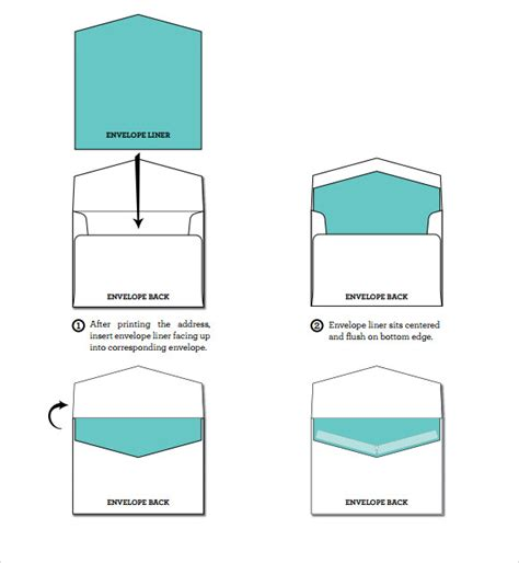 9 Envelope Liner Templates Download For Free Sle Templates Envelope Liner Template