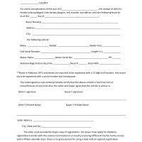 baldwin county boat bill of sale free alabama bill of sale forms pdf docx
