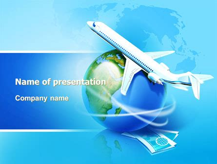 Airlines Powerpoint Template Backgrounds 07964 Poweredtemplate Com Airline Powerpoint Templates