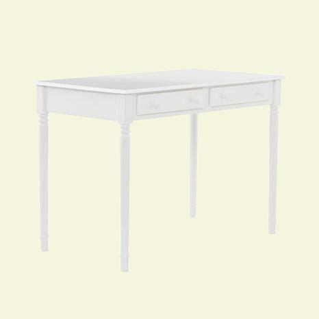 2 drawer desk white crisp white 2 drawer writing desk 6408545 hsn