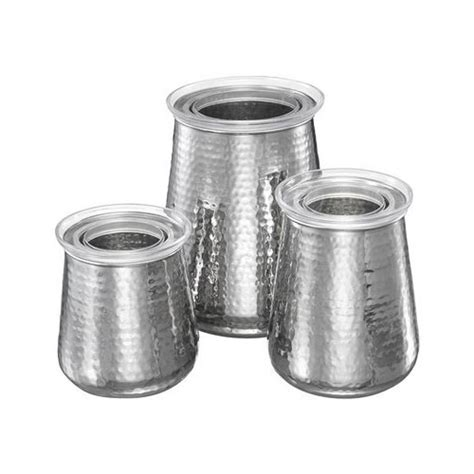 kitchen canister set stainless steel set of 3