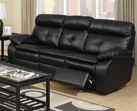 Black Leather Reclining Sofa And Loveseat G573a Reclining Sofa Loveseat In Black Bonded Leather By