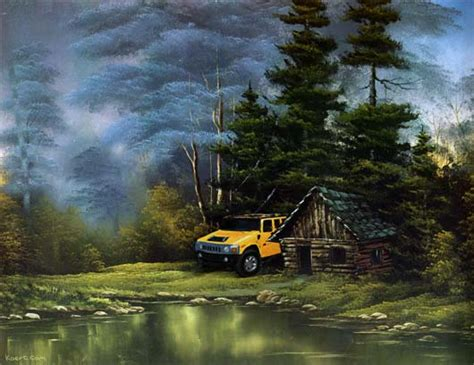 bob ross painting log cabins gallery the myth of wilderness