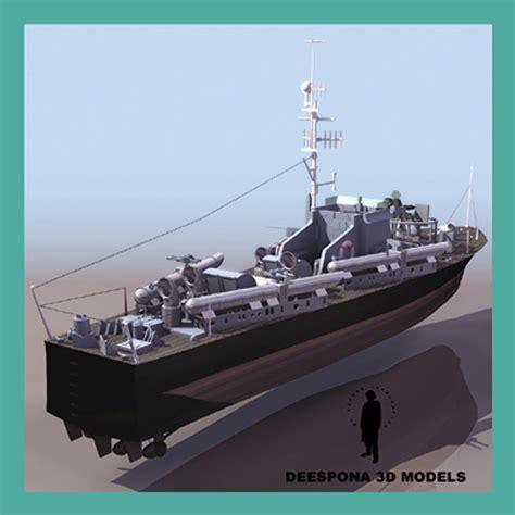 is a boat considered a motor vehicle 3d vosper 73 foot motor model