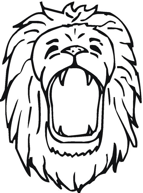 roaring lion coloring page lion roaring drawing clipart panda free clipart images