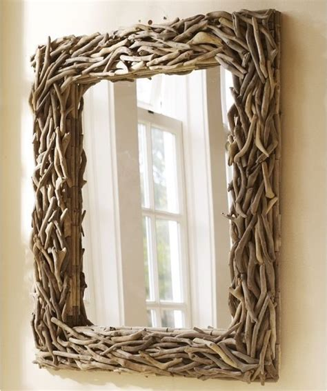 driftwood bathroom mirror driftwood mirror eclectic wall mirrors by pottery barn