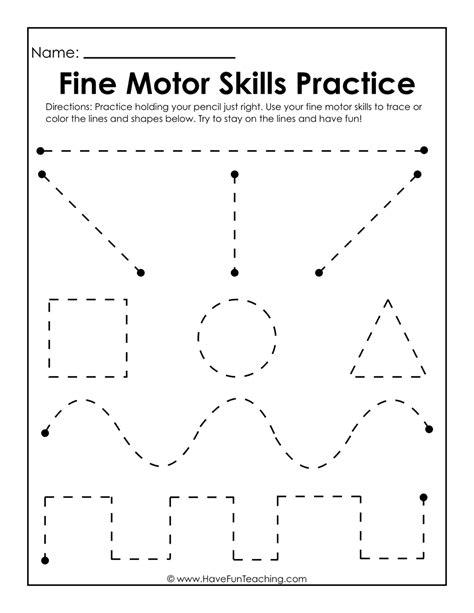 Motor Skills Handwriting Worksheets by Motor Skills Practice Worksheet Teaching