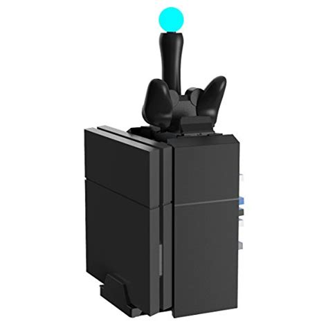 Charging Stand Cooling Fan Ps4 Slim 4 In 1 kootek ps4 vertical stand cooling fan for ps4 playstation 4 pro slim with playstation move