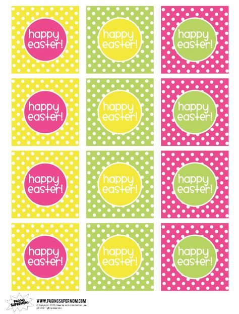 printable id card stickers happy easter printable labels paging supermom