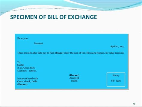 Bill Of Exchange Drawer by Negotiable Instruments Act 1881 22