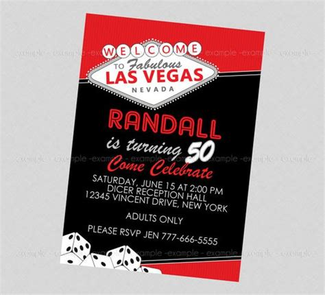 las vegas themed invitation wording las vegas invitation vegas las