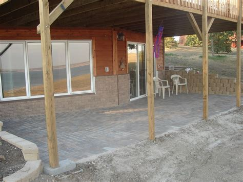 basement walk out paver patio project patio a deck
