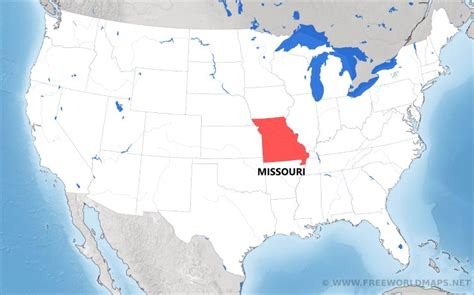 us map highlight states where is missouri located on the map
