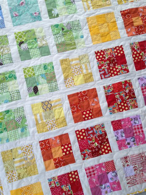Quilt Designs Using Squares by Rainbow 2 5 Inch Square Baby Quilt