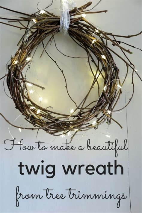how to make a wreath how to make a beautiful twig wreath from tree