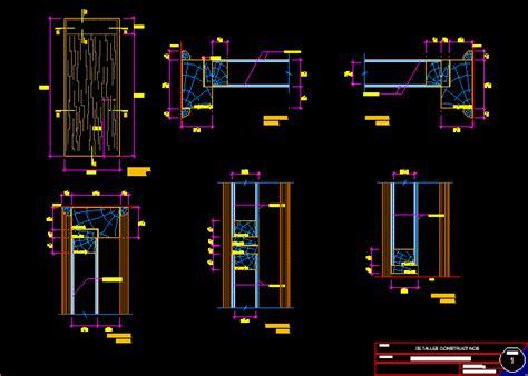 panel door details dwg detail autocad designs cad