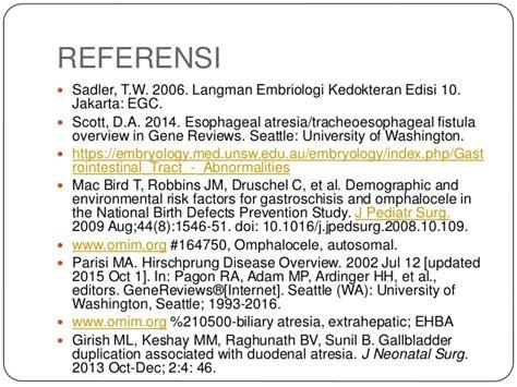Embriologi Kedokteran Langman Edisi 12 Limited kelainan genetik perkembangan sistem digestif