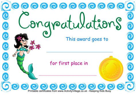 certificate templates for swimming awards free certificates for kids certificate templates