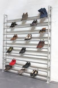 Warehouse Shoe Rack by Large Galvanised Steel Pipe Shoe Rack By