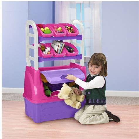 toy storage box chest kids bedroom organizer playroom furniture bin girls  ebay