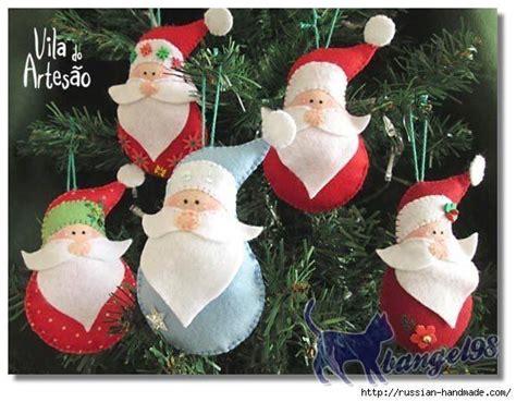 pattern for felt santa santa felt ornament pattern christmas crafts pinterest