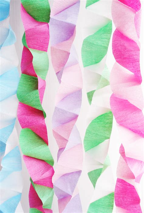 How To Make Paper Streamers - such pretty things pretty box folded streamers
