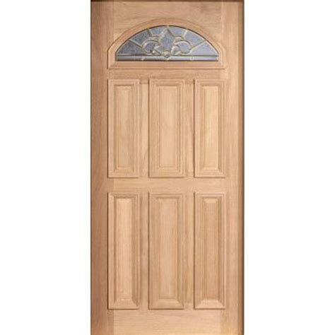 door 36 in x 80 in mahogany type unfinished beveled