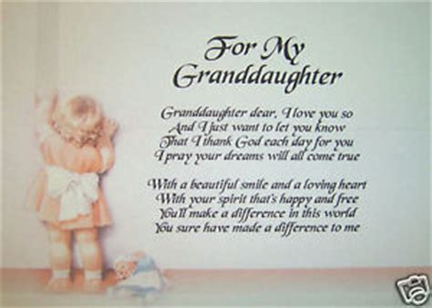Birthday Quotes For A Granddaughter Granddaughter Poems Home Furniture Diy Ebay