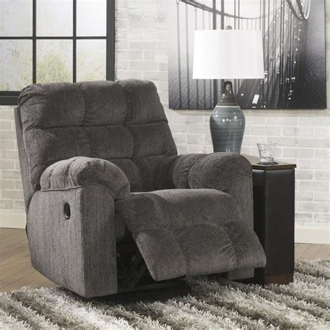 ashley furniture swivel rocker recliner ashley furniture acieona swivel rocker recliner in slate