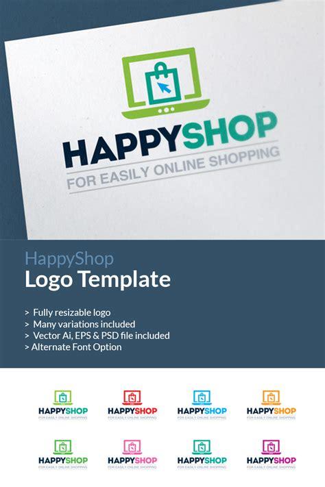 shopping  commerce shop logo template