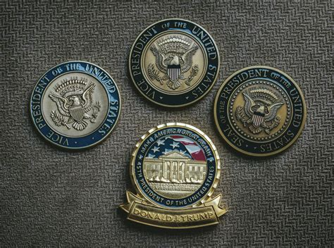 presidential makeover presidential challenge coin undergoes a trumpian