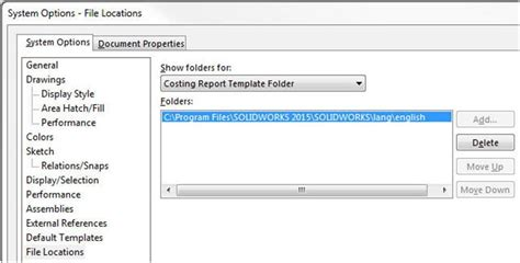 Solidworks Costing An In Depth Review Part 10 Reports Adding Removing Info Limited Access Solidworks Costing Template