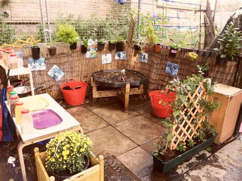 Creating a mud kitchen for your outdoor area   Early Years