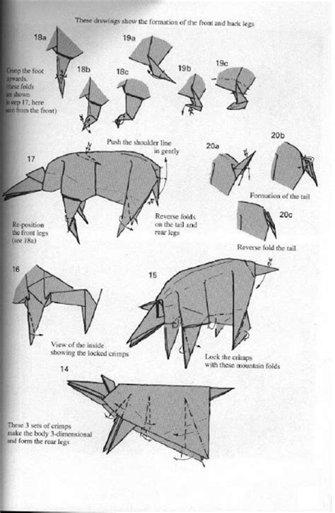 How To Make Origami Rhino - origami animal rhinoceros make origami easy