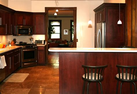 photos of kitchens with cherry cabinets brighter kitchen paint colors with cherry cabinets